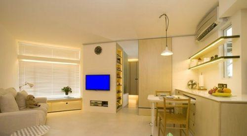 40平米小客厅电视墙装修效果图图片