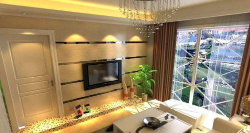 简约客厅电视背景墙装修设计效果图片