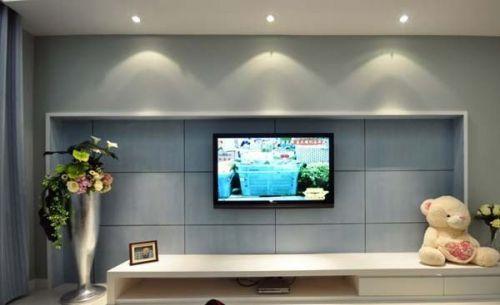 小户型简约客厅电视背景墙装修效果图