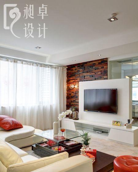 小户型简约风格客厅电视背景墙效果图