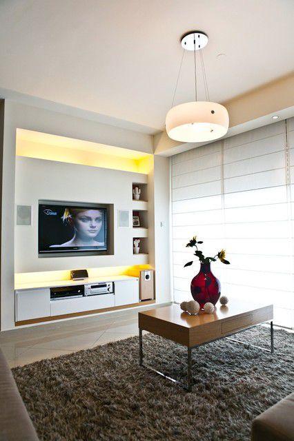 50小户型客厅电视背景墙装修效果图
