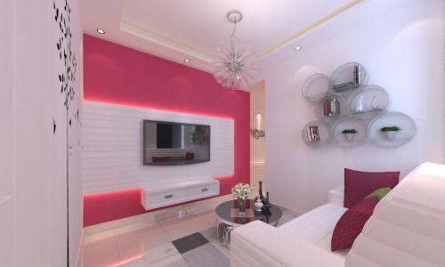 最新简约小客厅电视背景墙装修效果图