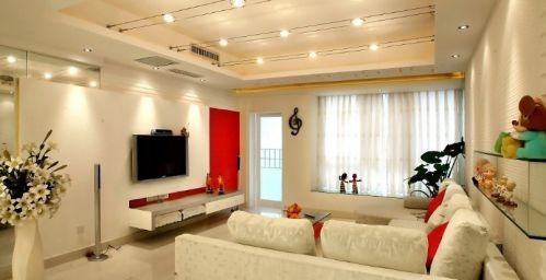 简约客厅电视背景墙装修效果图片欣赏