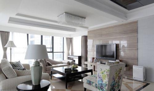 年简约风格装修客厅电视背景墙效果图