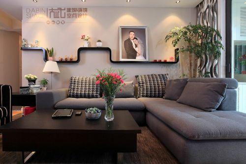 9万打造浪漫简约风格客厅沙发背景墙