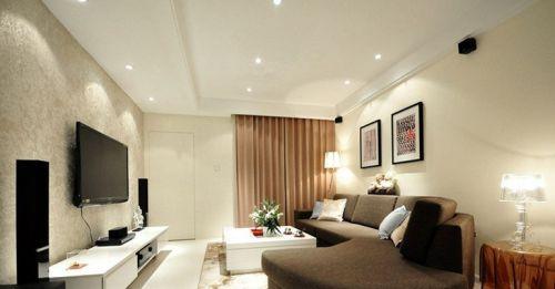 简欧客厅装修效果图电视机背景墙效果图