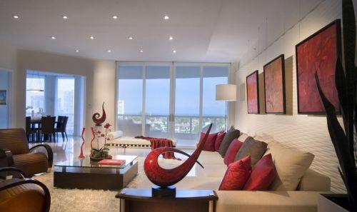 現代簡約風格房屋裝修客廳電視背景墻效果圖