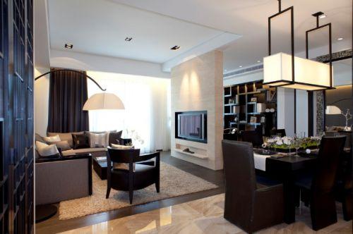 后现代经典搭配三室一厅现代简约客厅