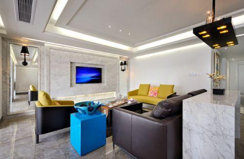 触动的旋律装修样例两室两厅现代简约客厅