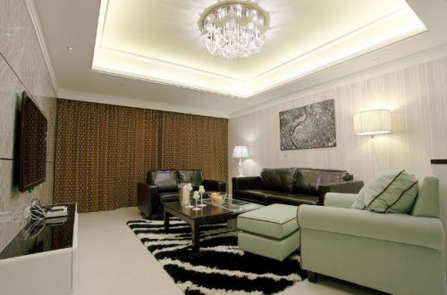 现代公寓设计样例两室两厅现代简约客厅