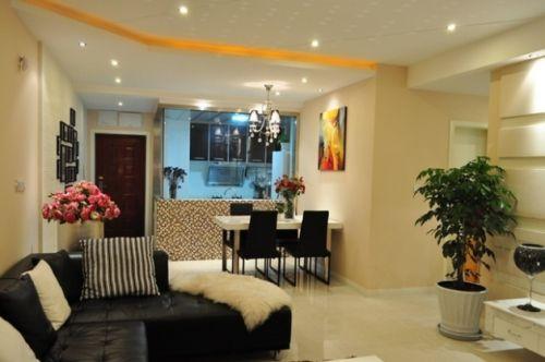 简约时尚案例两室两厅现代简约客厅