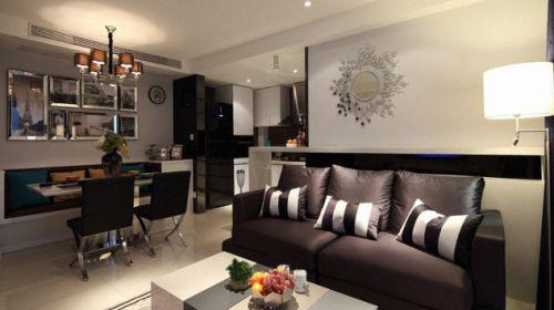 淳朴之简约型样例两室两厅现代简约客厅