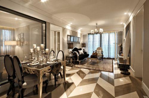 黑白灰造就古典情怀样例现代简约客厅