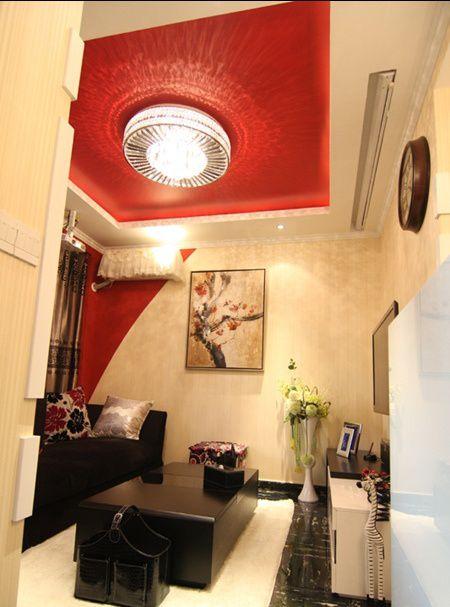 小户型客厅吊顶颜色效.