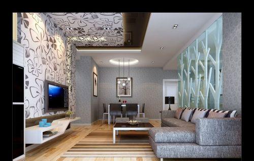 海棠晓月欧式客厅个性电视背景墙设计