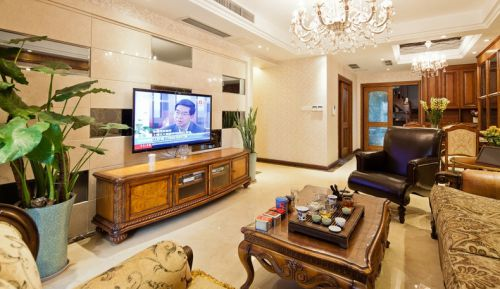 2016家装客厅瓷砖电视背景墙装修效果图