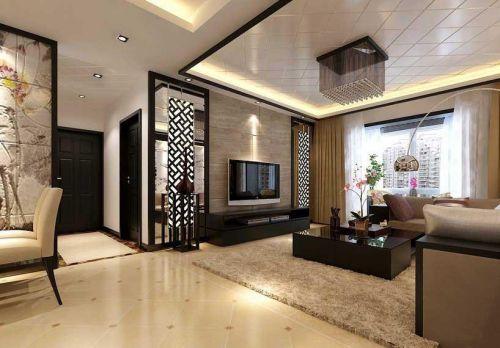现代中式家装效果图新中式客厅装修效果图