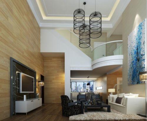 别墅跃层客厅吊顶装修效果图图片