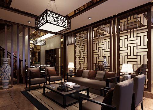 中式客厅隔断设计