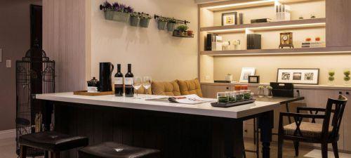 美式生活客厅吧台设计