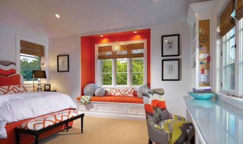 简约风格卧室飘窗装修设计