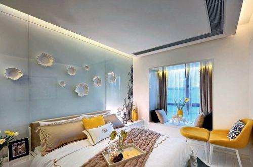 现代卧室飘窗设计效果图片