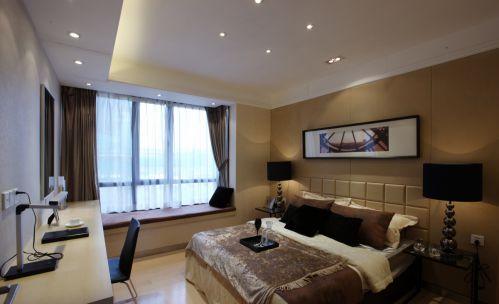 现代卧室飘窗装修效果图片
