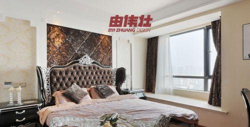 现代风格主卧室飘窗效果图