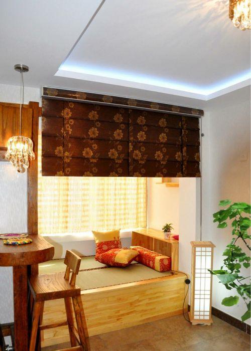 现代中式卧室装修效果图片