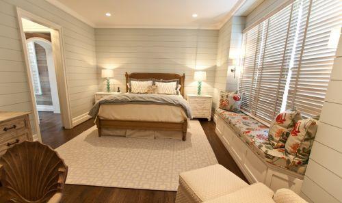 欧式主卧室飘窗装饰设计图
