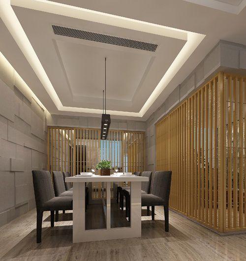 餐厅三级吊顶装修效果图_装修之家装修效果图