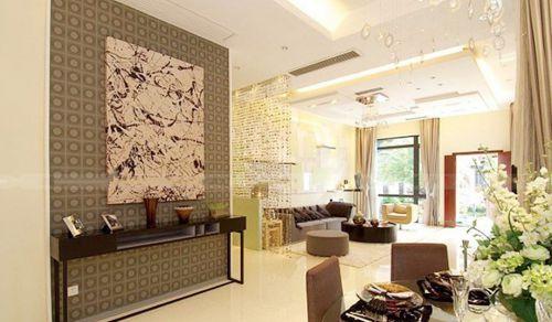 中式餐厅背景墙造型
