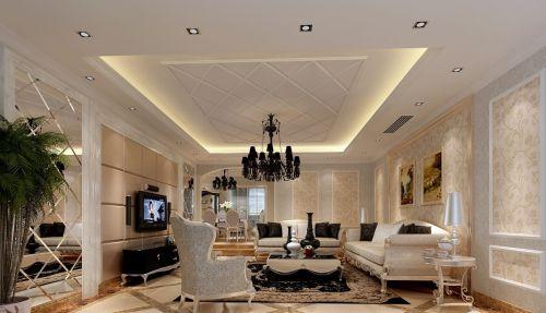 欧式客厅石膏板吊顶