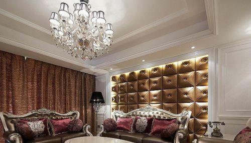现代欧式风格三居客厅吊顶灯带效果图_装修之家装修