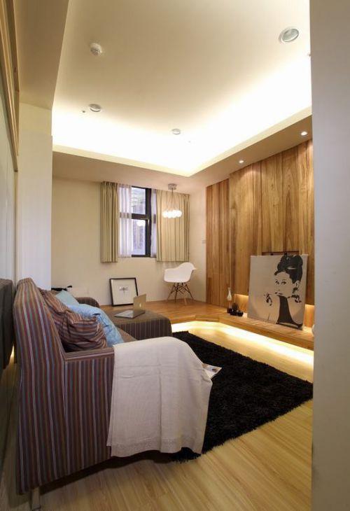 46平温馨小宅堆砌宜家风尚日式客厅美图