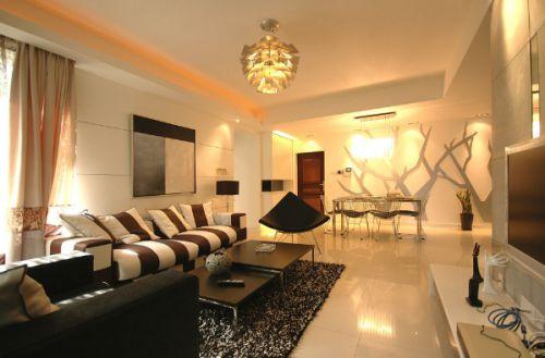 记忆变形线复式日式客厅装修效果图设计欣赏