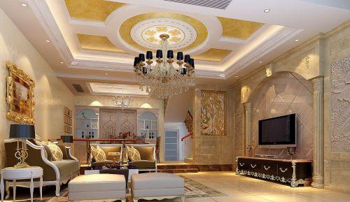 大厅石膏吊顶设计效果图片