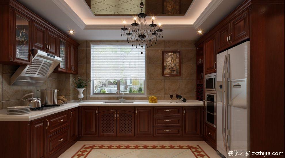 美式大厨房橱柜效果图