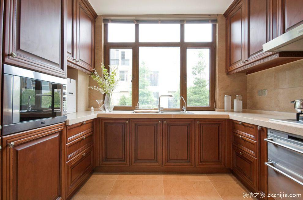 别墅新中式效果图欣赏复式新中式厨房美图