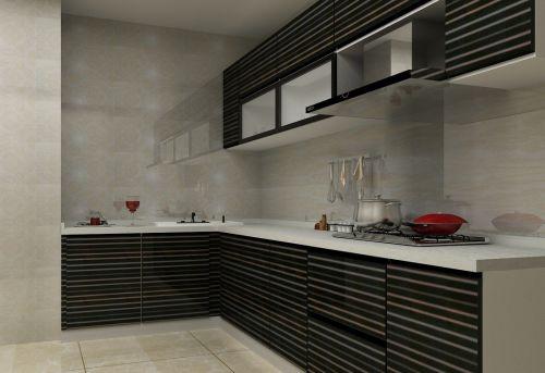 现代风采厨房用品效果图