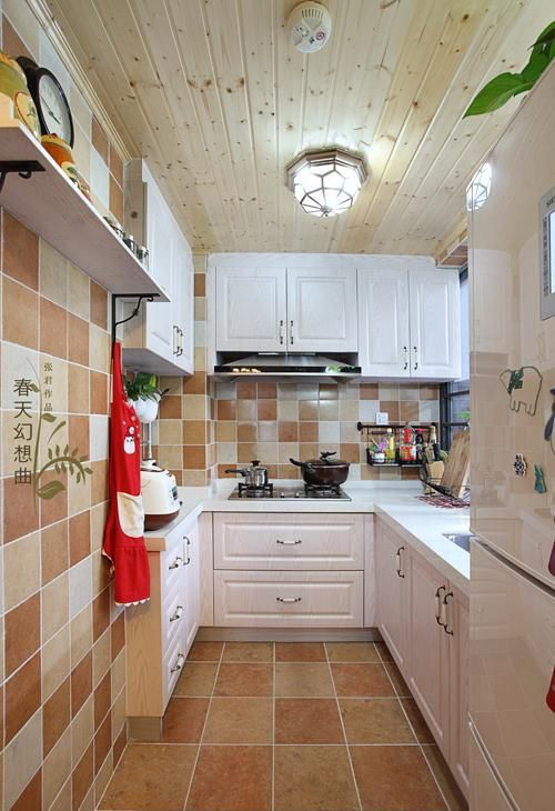 L型厨房欧式橱柜图片