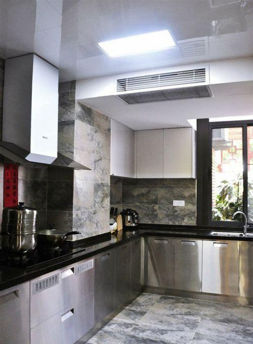厨房不锈钢橱柜效果图图片