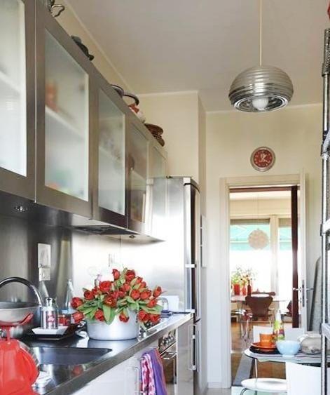 厨房不锈钢橱柜效果图欣赏
