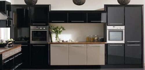 开放式厨房整体橱柜装修效果图图片
