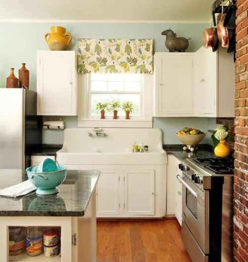 现代风小厨房橱柜装修效果图