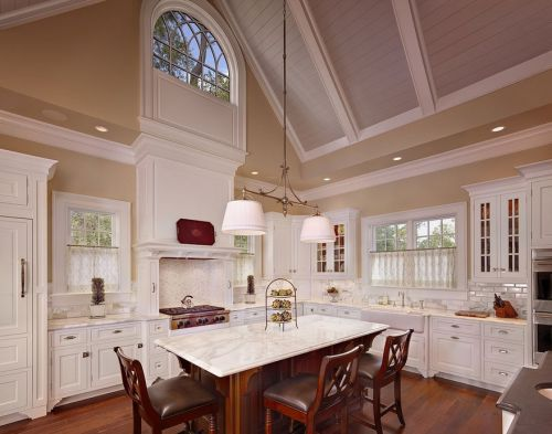 欧式装修室内厨房整体橱柜效果图