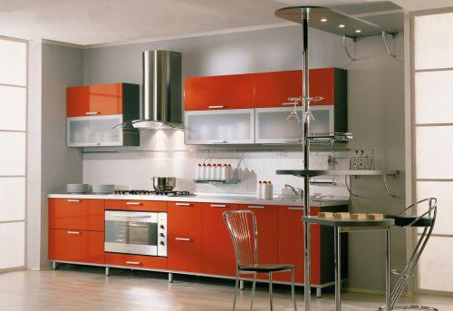开放式厨房整体厨柜效果图图片