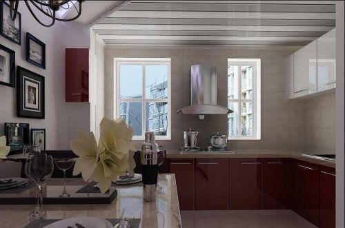 开放式厨房橱柜效果图图片