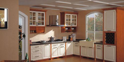 最新美式厨房橱柜装修效果图片