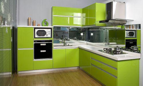 现代简约厨房不锈钢橱柜图片大全